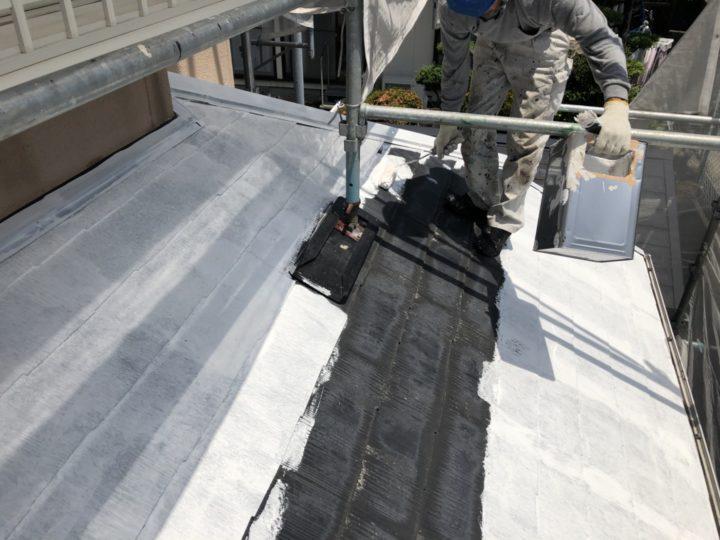 下塗り(屋根)