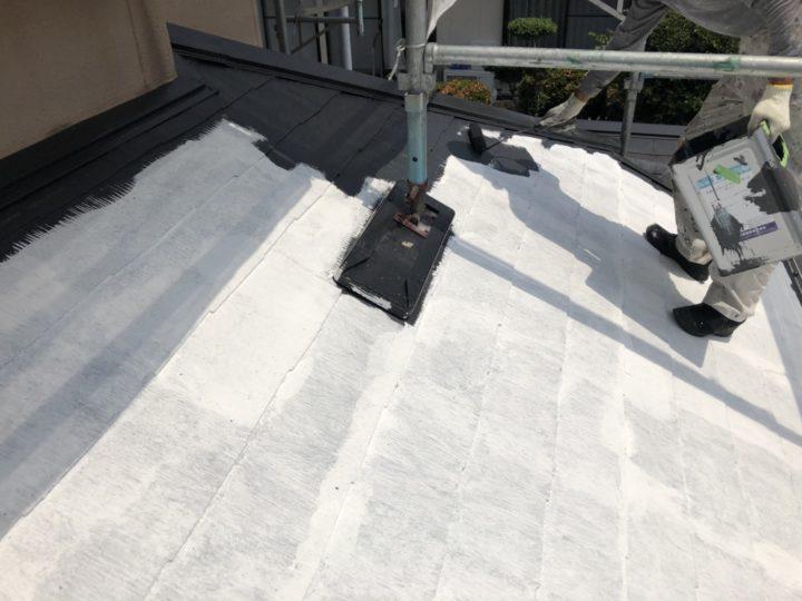 中塗り(屋根)