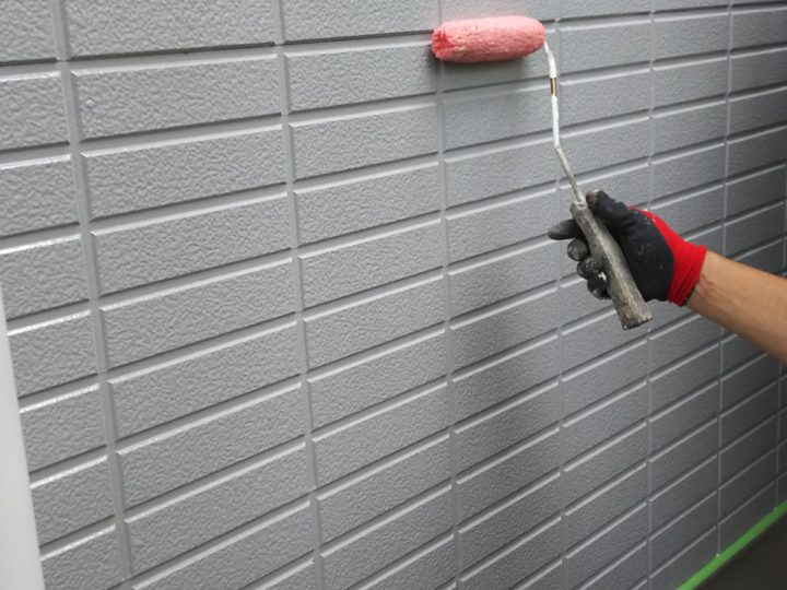 外壁下塗り(一階)