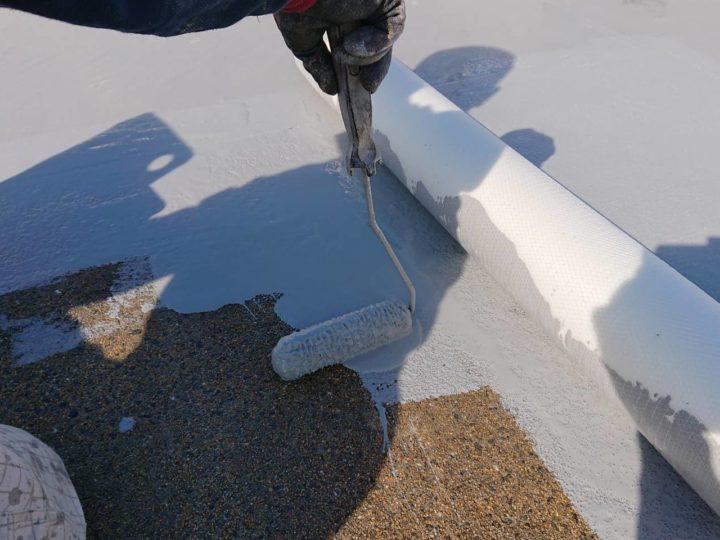 屋上中塗り