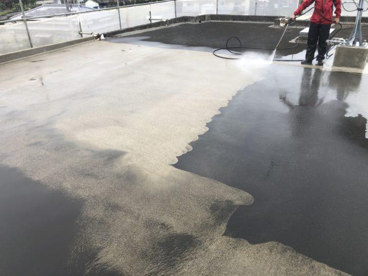 屋上高圧洗浄