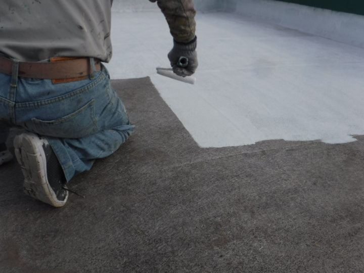 屋上下塗り