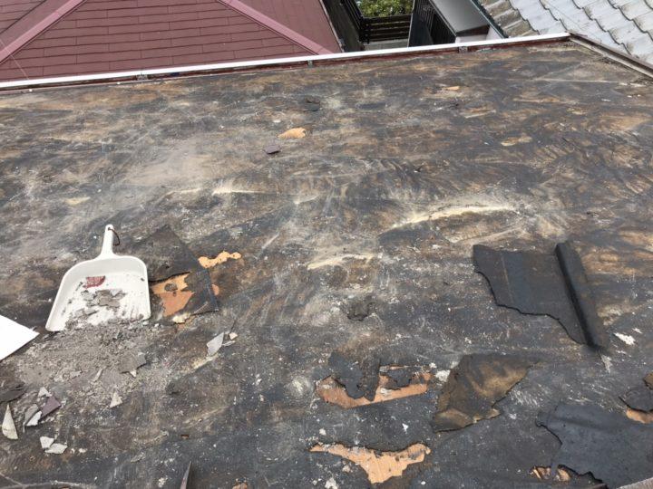屋根剥がし完了