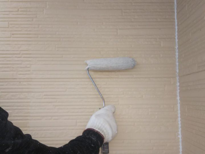 外壁下塗り(二階)