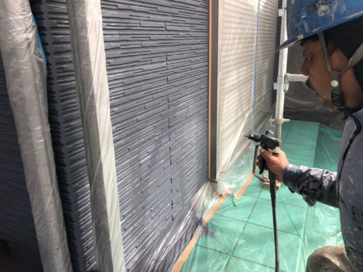 外壁中塗り(一階)