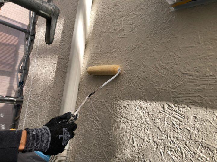 外壁下塗り(二階)下塗り