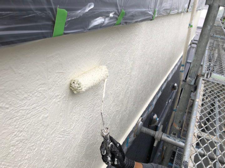 外壁上塗り(二階)